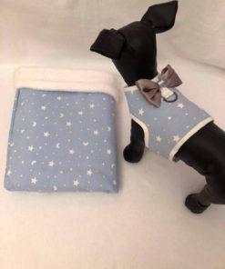Saco Azul De Lunas Y Estrella para perros pequeños como caniche toy apricot y cavalier de Salvaterra de Magos