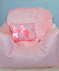 cama rosa para caniche