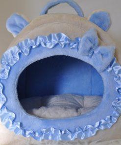 Cueva Orejitas Beige y azul