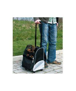 Mochila con rueda modelo trolley para perros de talla pequeña hasta 8 kg