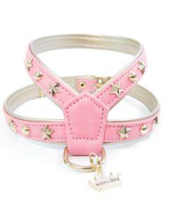 arnes rosa de la marca estil for dog para perros de talla pequeña como caniche toy y cavalier
