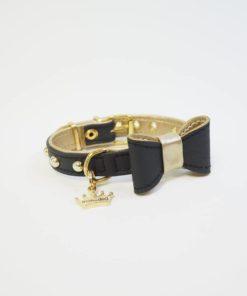 collar clamor negro de estil for dog para perros pequeños. Criadores de caniches toy y cavalier