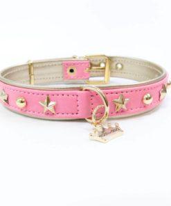 collar lua rosa de la marca estil for dog para perros de talla pequeña como criadores de caniches toy y cavalier