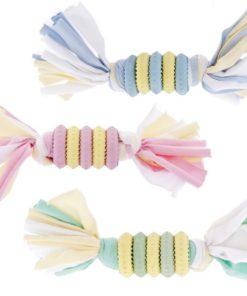 Juguete de anillo con cuerda de la marca Ferribiella para perros de raza pequeña. Criadores de caniche toy, Caniche mini toy y cavalier