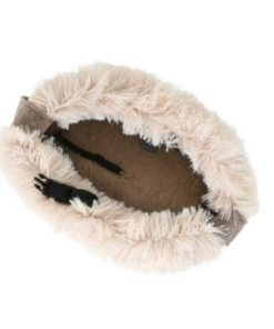 Bolso de pelo beige de la marca o lala pets para perros de talla pequeña. Criadores de caniches toy, caniches mini toy y cavalier