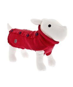 Jersey pin up rojo de la marca ferribiella para perros de talla pequeña. Criadores de caniches toy, caniche mini toy y cavaliers.