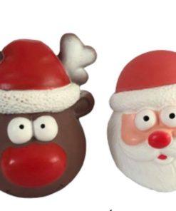 rodolfo y papa noel juguete de latex para perros pequeños. Salvaterra de magos criadores de caniches toy, caniches mini toy rojo y cavalier